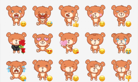 Bernard the bear sticker pack