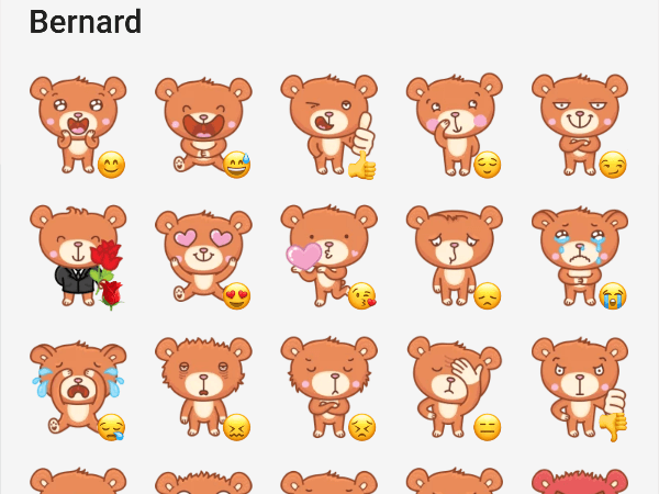 bernard the bear telegram stickers