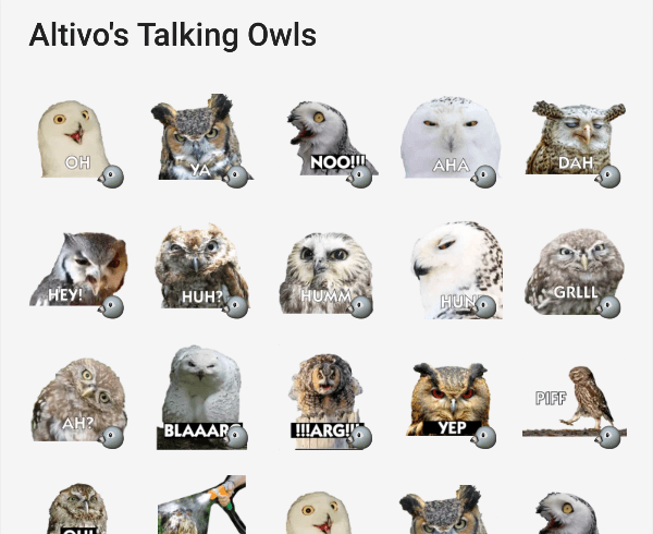 telegram-stickers-talking-owls