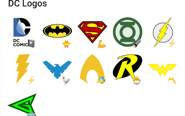 DC Heroes sticker pack