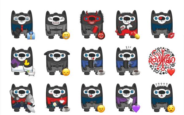 Vovkus The Wolf sticker pack