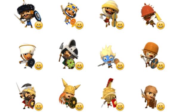 World of Warriors sticker pack