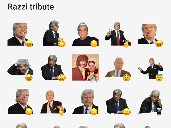 Telegram stickers of Antonio Razzi