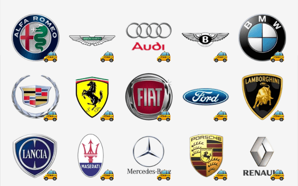 Car brand logo sticker pack