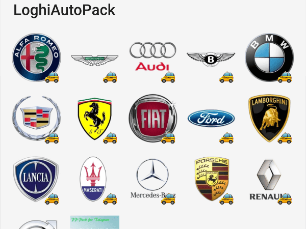 Car Brand Logo Sticker Pack Telegram Stickers Library