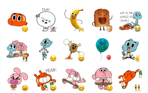 Gumball sticker pack