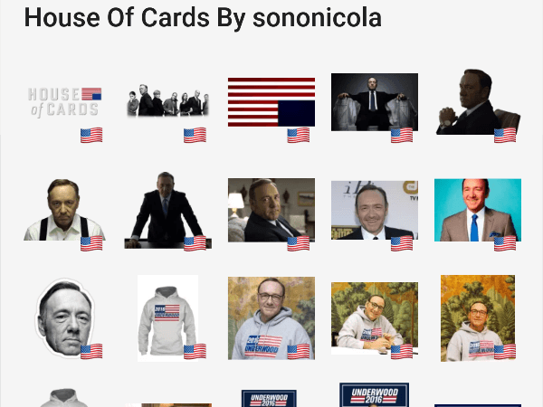 House Of Cards telegram sticker pack