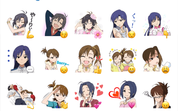 Anime idolmaster sticker pack