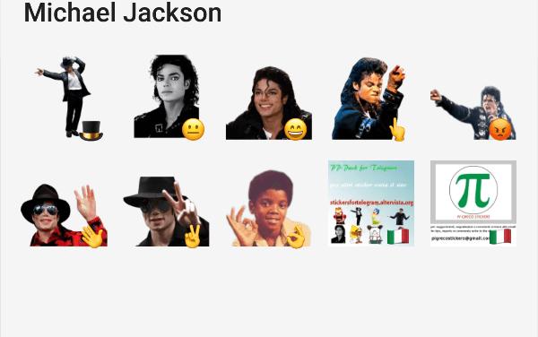 Michael Jackson sticker pack