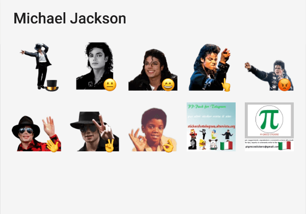 Michael Jackson telegram sticker pack