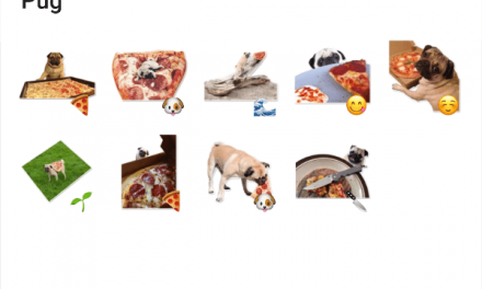 Pizza Pug sticker pack
