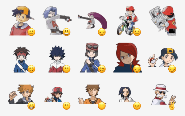 Pokemon Trainers sticker pack