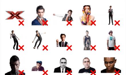 Italian X Factor show sticker pack