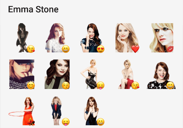 Emma Stone telegram stickers