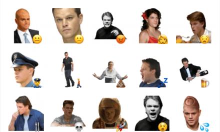 Matt Damon sticker pack