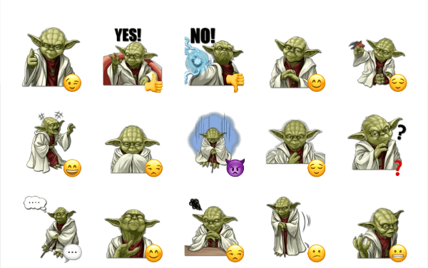 Yoda sticker pack