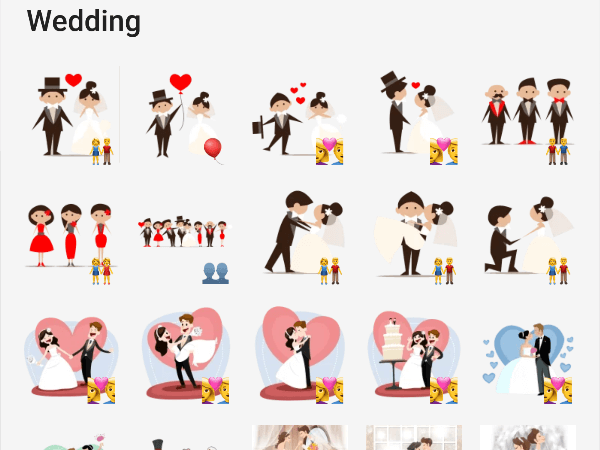 Wedding telegram stickers