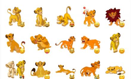 Baby Simba sticker pack