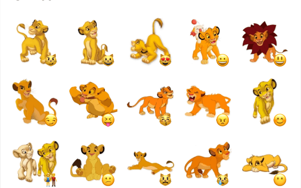 Baby Simba sticker pack
