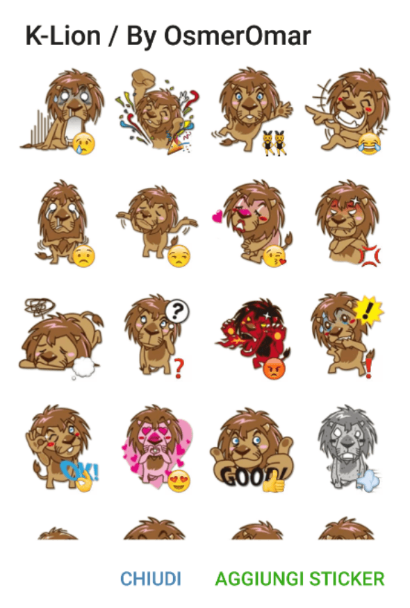 k-lion-sticker-pack