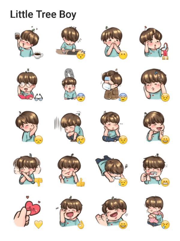 little-tree-boy-sticker-pack