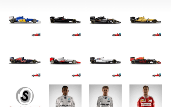 Formula 1 ( F1 ) Sticker pack