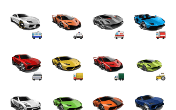 Lamborghini sticker pack