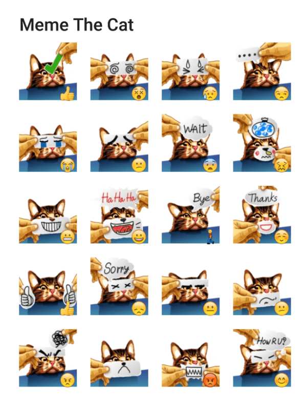 meme-cat-sticker-pack