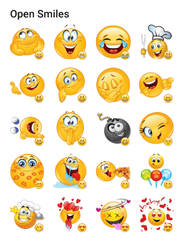 open-smiles-sticker-pack