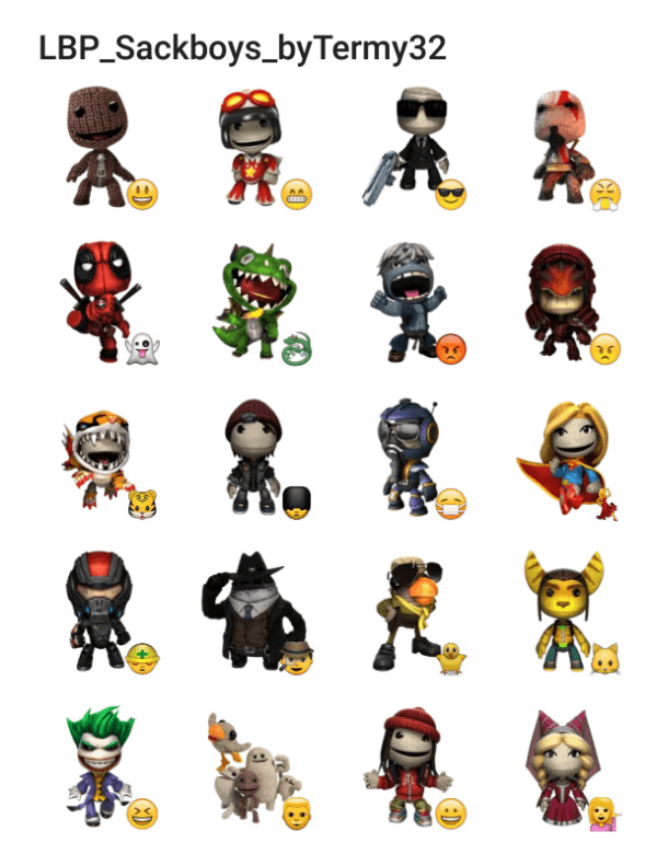sackboy-sticker-pack