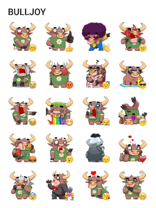 bulljoy-sticker-pack