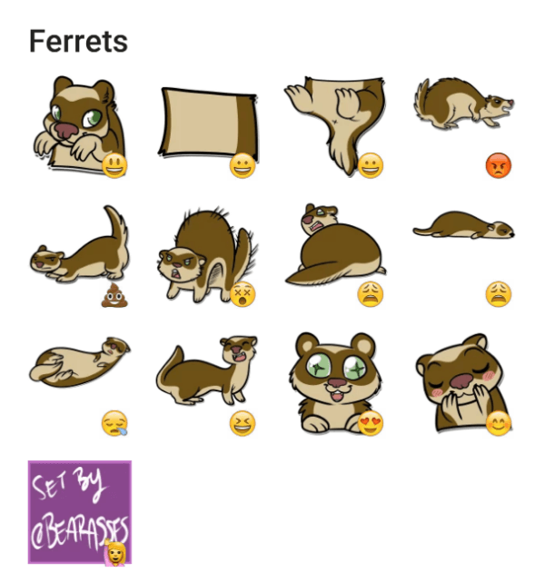 ferrets-sticker-pack