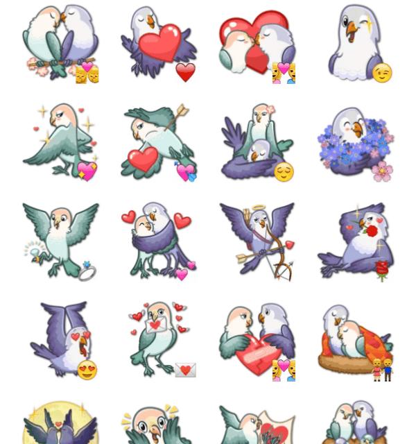 Love Birds Sticker Pack