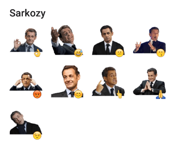 Nicolas Sarcozy Sticker Pack