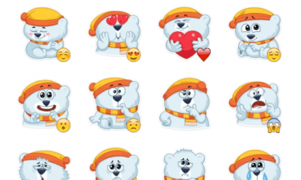 Oslo the Polar Bear Sticker Pack