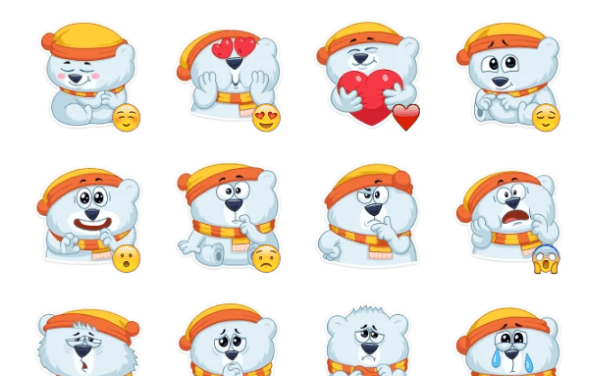 Oslo the Polar Bear Sticker Pack