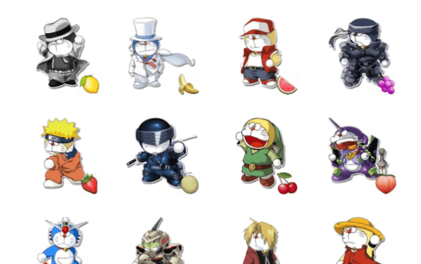 Doraemon Cosplay StickerbPack