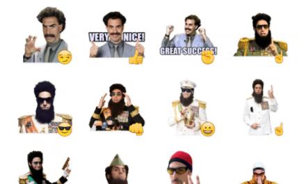Sacha Baron Cohen Sticker Pack