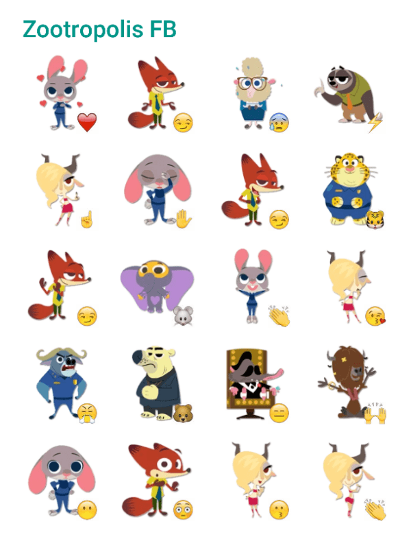 Zootropolis-sticker-pack