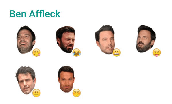 Ben Affleck Sticker Pack