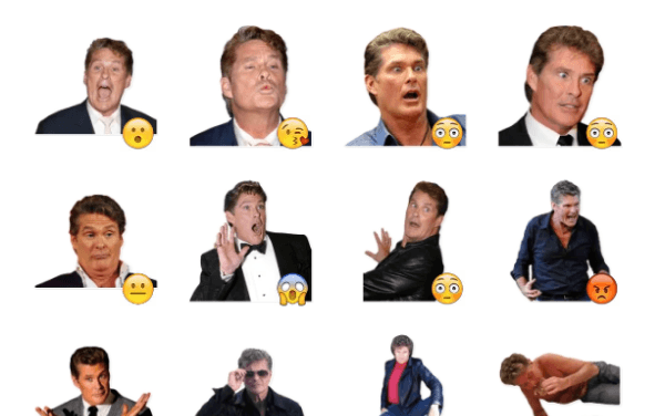 David Hasselhoff Sticker Pack