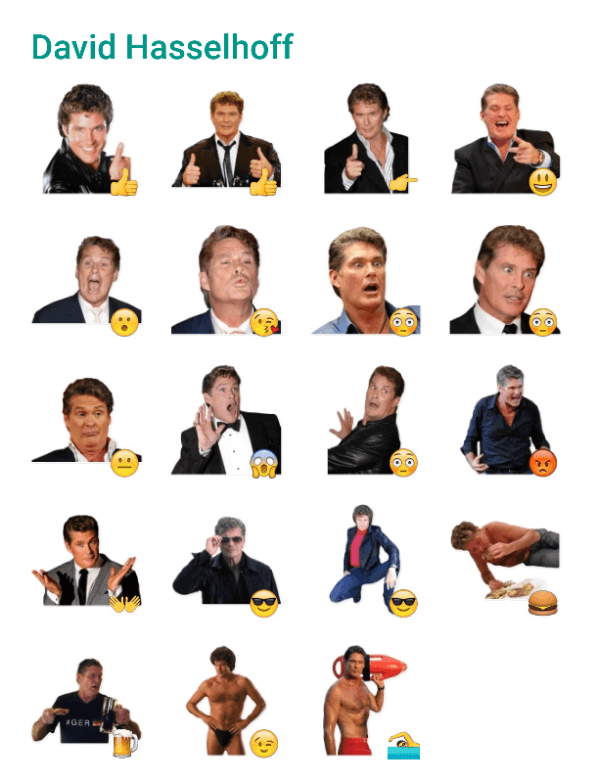 david-hasselhoff-sticker-pack