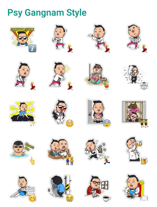 PSY - Gagnam Style Sticker Pack - Telegram Stickers Library