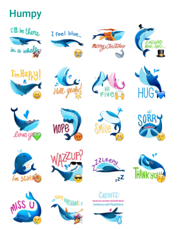 humpy-the-whale-sticker-pack