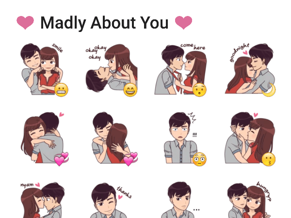madly-about-you-sticker-pack