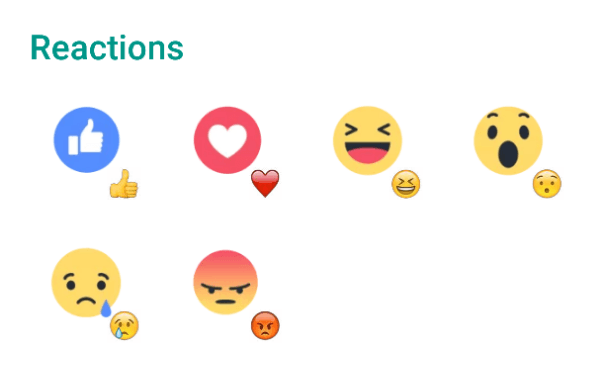Facebook Reactions Sticker Pack