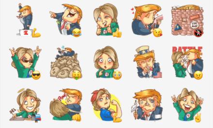 Clinton vs trump sticker pack