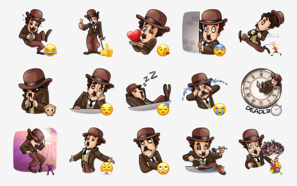 Charlie Chaplin Sticker Pack