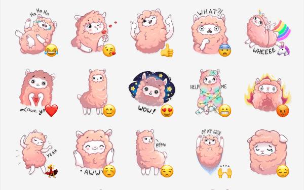 Fluffy Lama Telegram Sticker pack