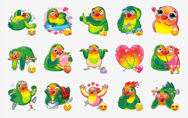 Love Bird Sticker pack